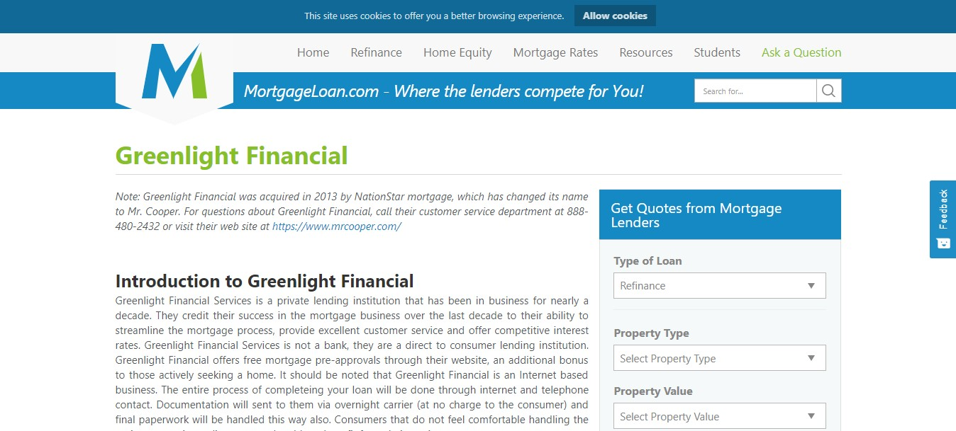 Nationstar Greenlight Loans | Nationstar Mortgage Login