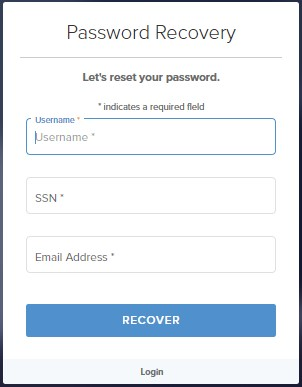 password recovery Loanadministration AmeriHome