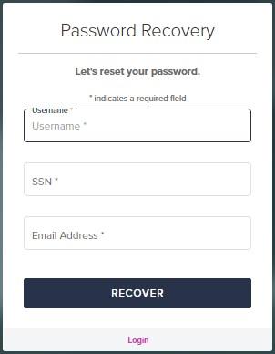 password recovery Loanadministration SWBC