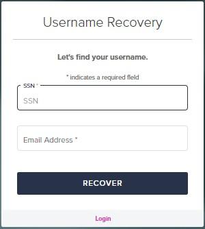 username recovery Loanadministration SWBC